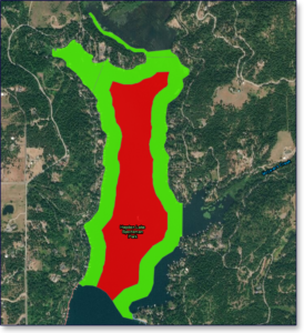 Hayden Lake Phase 3 Milfoil Treatment Map