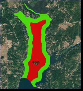 Hayden Lake Phase 3 Milfoil Treatment Map