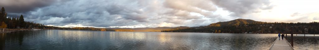 A panoramic view of Hayden Lake after the rain.
