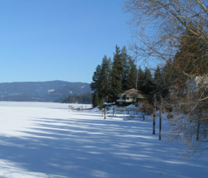 Winter 2009 on Hayden Lake