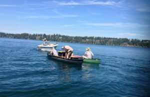 Image: Hayden Lake, ID; Lake Managers at Work