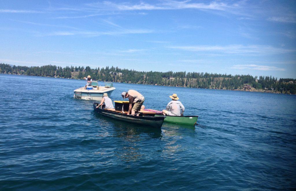Image: Hayden Lake, ID; Lake Managers at Work