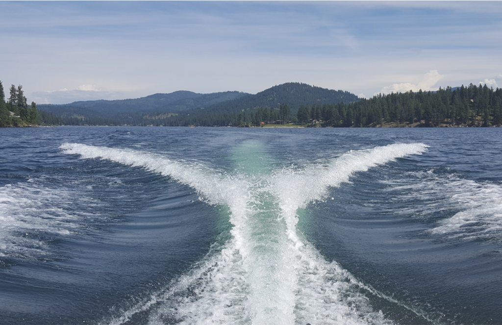 Wakes on Hayden Lake cause shoreline erosion and propogate weeds. Buoys can help manage the damage.