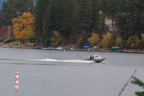 No-wake zones will be delineated by buoys placed 200 ft from the shoreline.