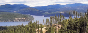 A view of Hayden Lake from Canfield lookout