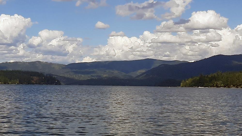 Hayden lake, looking north from Honeysuckle Bay