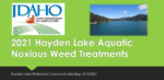 2021 Hayden Lake Aquatic Noxious Weed Treatments - Jeremey Varley