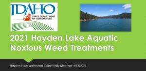 2021 Hayden Lake Aquatic Noxious Weed Treatments - Jeremey Varley