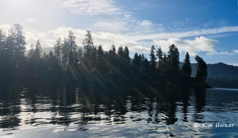 Hayden Lake glinting in the sunlight, is a pristine jewel in North Idaho.