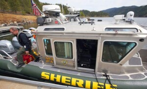 KCSO Marine boat on the lake.